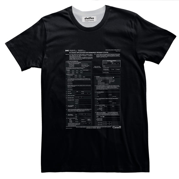 Canadian Immigration Form Basic T-Shirt-Printify-Black-S-| All-Over-Print Everywhere - Designed to Make You Smile