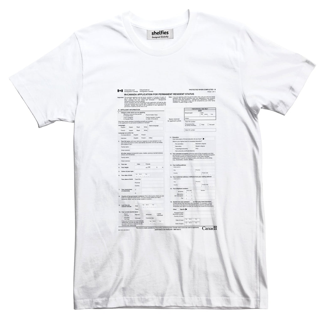 Canadian Immigration Basic T-Shirt-Printify-White-S-| All-Over-Print Everywhere - Designed to Make You Smile