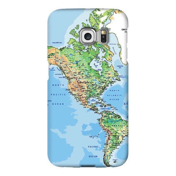 World Map The Americas Smartphone Case-Gooten-Samsung S6 Edge-| All-Over-Print Everywhere - Designed to Make You Smile