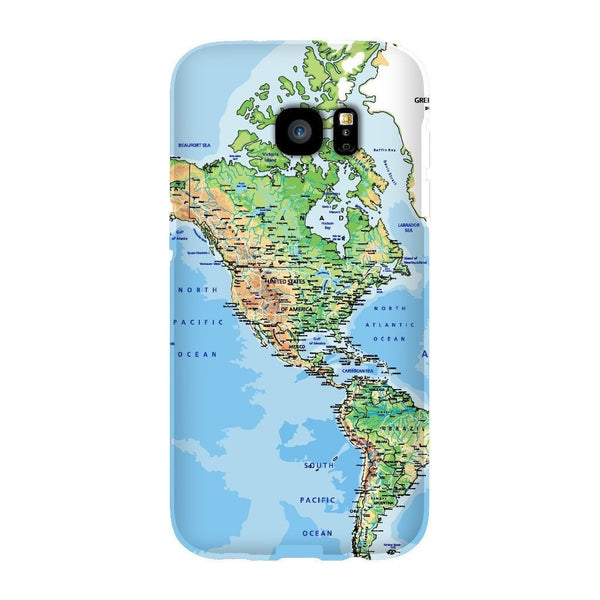 World Map The Americas Smartphone Case-Gooten-Samsung S7 Edge-| All-Over-Print Everywhere - Designed to Make You Smile