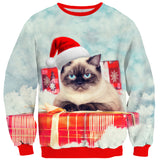 Christmas Cat Sweater-Subliminator-| All-Over-Print Everywhere - Designed to Make You Smile