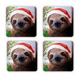 Christmas Sloth Coaster Set-Gooten-4-Pack-| All-Over-Print Everywhere - Designed to Make You Smile