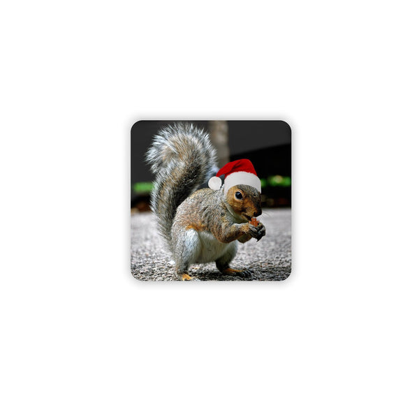 Christmas Squirrel Coaster Set-Gooten-4-Pack-| All-Over-Print Everywhere - Designed to Make You Smile