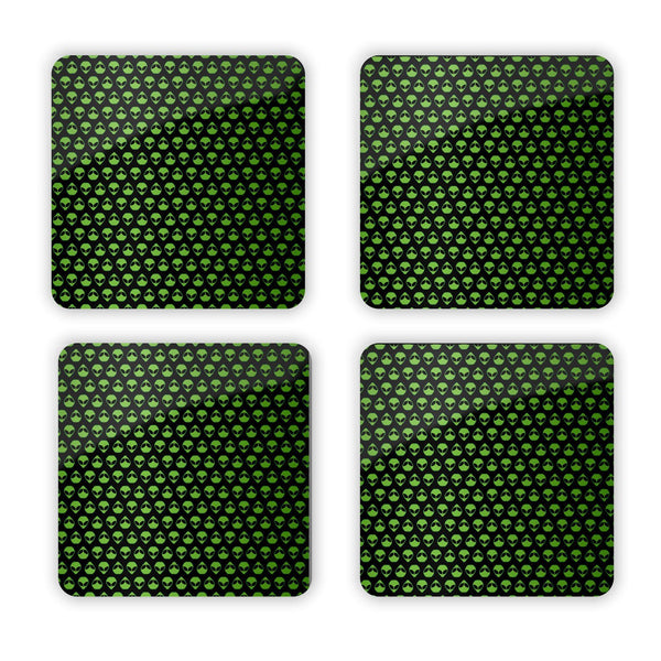 Alienz Coaster Set-Gooten-Set of 4-| All-Over-Print Everywhere - Designed to Make You Smile