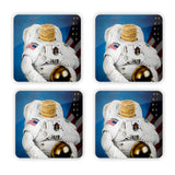 Astronaut Pancakes Coaster Set-Gooten-| All-Over-Print Everywhere - Designed to Make You Smile