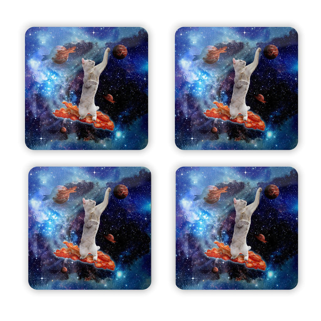 Bacon Cat Coaster Set-Gooten-Set of 4-| All-Over-Print Everywhere - Designed to Make You Smile