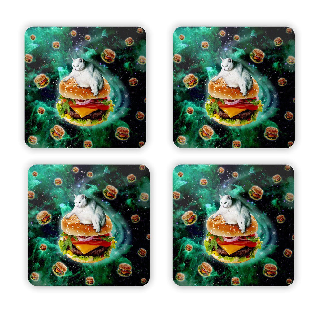 Hamburger Cat Coaster Set-Gooten-Set of 4-| All-Over-Print Everywhere - Designed to Make You Smile
