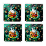Hamburger Cat Coaster Set-Gooten-| All-Over-Print Everywhere - Designed to Make You Smile