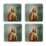Holy Jesus Coaster Set-Gooten-Set of 4-| All-Over-Print Everywhere - Designed to Make You Smile
