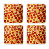 Pizza Invasion Coaster Set-Gooten-| All-Over-Print Everywhere - Designed to Make You Smile