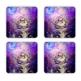 Trippin' Kitty Kat Coaster Set-Gooten-| All-Over-Print Everywhere - Designed to Make You Smile