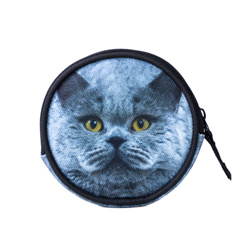 Coin Purses - Grey Cat Coin Purse