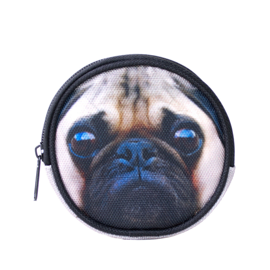 Pug Coin Purse-Shelfies-One Size-| All-Over-Print Everywhere - Designed to Make You Smile