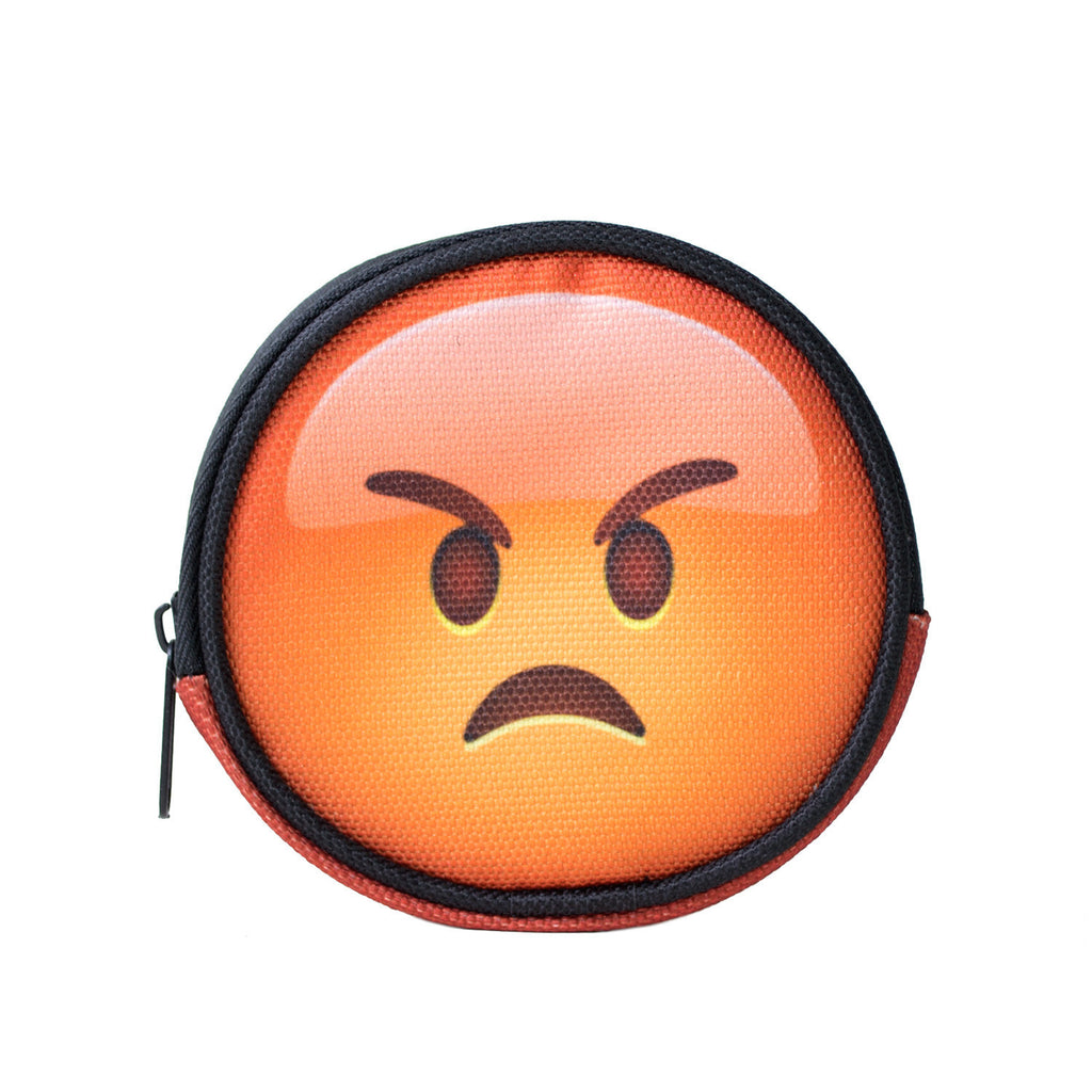 Super Angry Emoji Coin Purse-Shelfies-One Size-| All-Over-Print Everywhere - Designed to Make You Smile