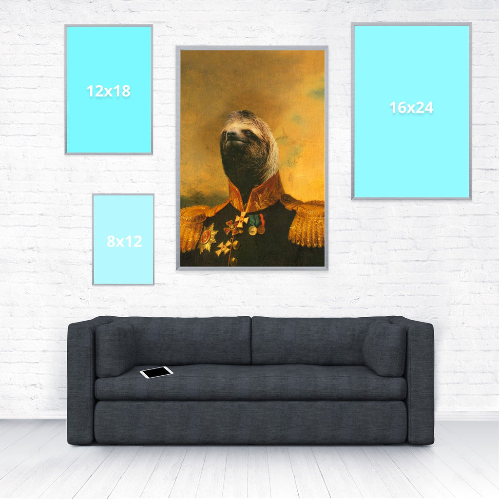 "Commander Sloth Poster-Shelfies-20"" x 30""-