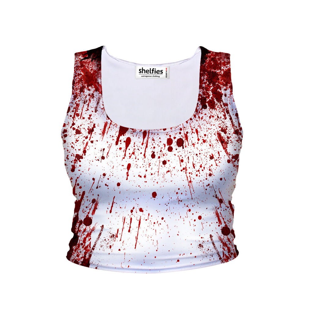 Blood Splatter Crop Tank-Shelfies-| All-Over-Print Everywhere - Designed to Make You Smile