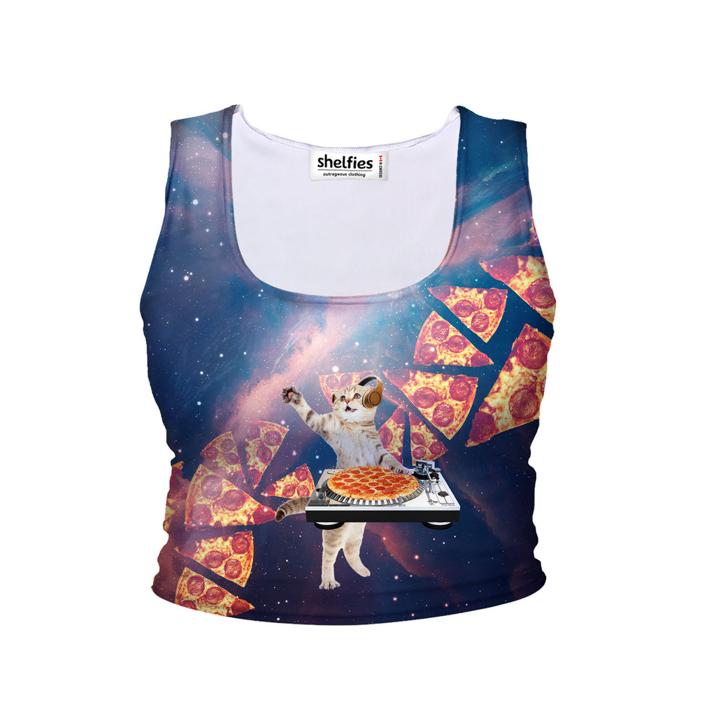 Crop Tanks - DJ Pizza Cat Crop Tank
