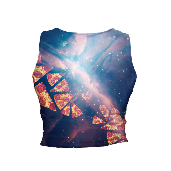 DJ Pizza Cat Crop Tank-Shelfies-| All-Over-Print Everywhere - Designed to Make You Smile
