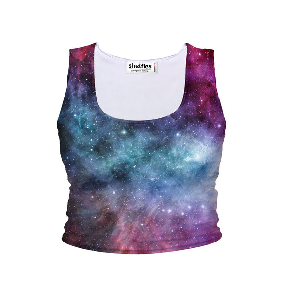 Galaxy Love Crop Tank-Shelfies-| All-Over-Print Everywhere - Designed to Make You Smile