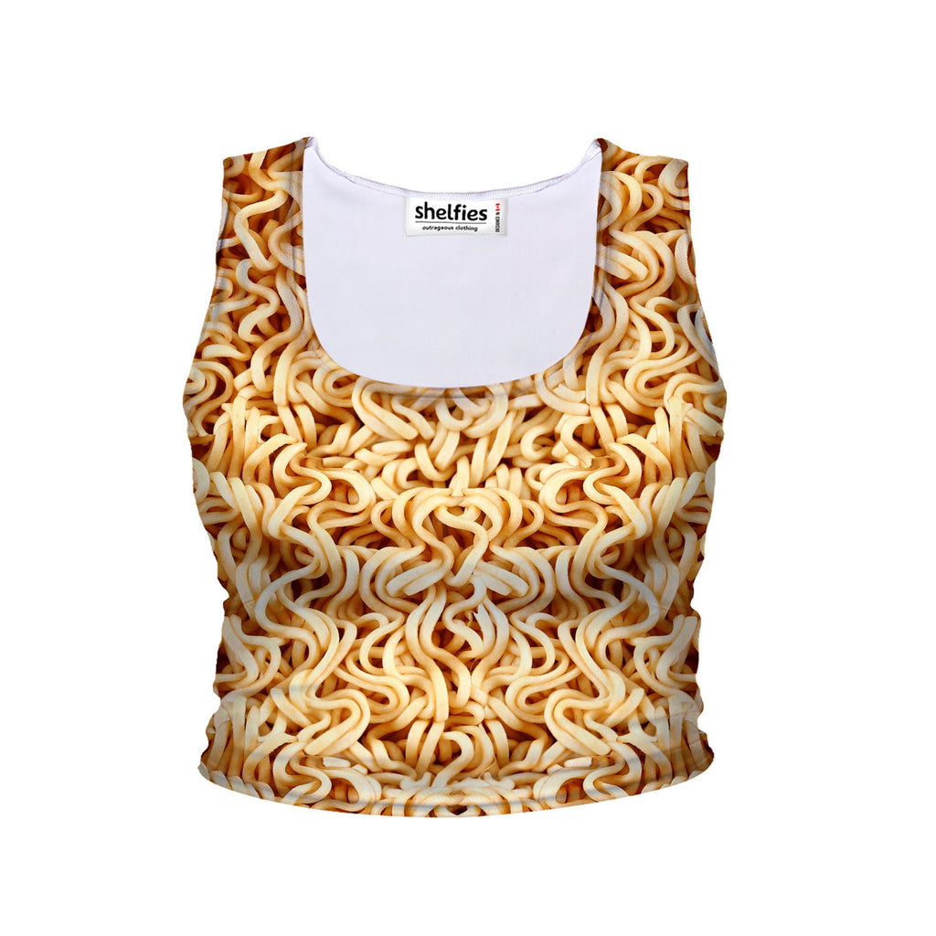 Ramen Invasion Crop Tank-Shelfies-| All-Over-Print Everywhere - Designed to Make You Smile