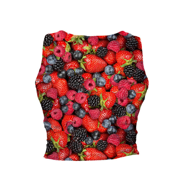 Summer Berries Invasion Crop Tank-Shelfies-| All-Over-Print Everywhere - Designed to Make You Smile
