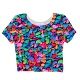 Candy Rocks Invasion Crop Top-Shelfies-| All-Over-Print Everywhere - Designed to Make You Smile