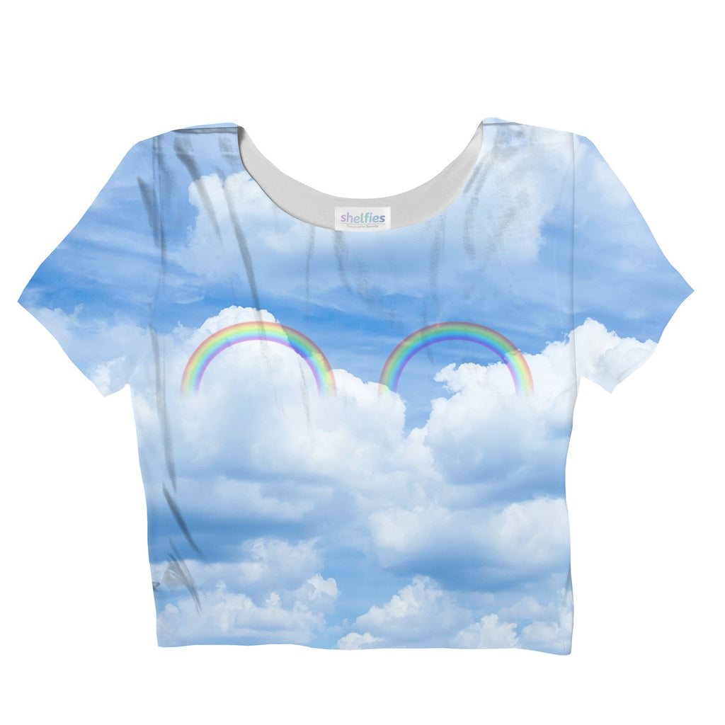 Crop Tops - Double Rainbow Crop Top