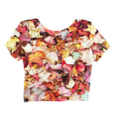 Fall Leaves Crop Top-Shelfies-| All-Over-Print Everywhere - Designed to Make You Smile
