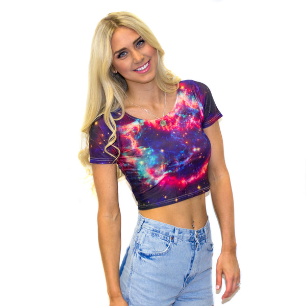 G11 Dot 7 Crop Top-Shelfies-S-| All-Over-Print Everywhere - Designed to Make You Smile
