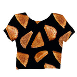 Grilled Cheese Crop Top-Shelfies-| All-Over-Print Everywhere - Designed to Make You Smile