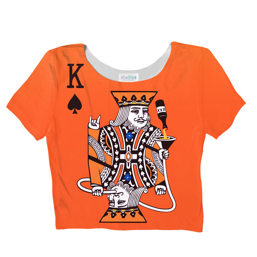 Kingsday Crop Top-Shelfies-| All-Over-Print Everywhere - Designed to Make You Smile