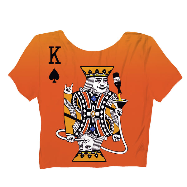 Kingsday Crop Top-Shelfies-S-| All-Over-Print Everywhere - Designed to Make You Smile