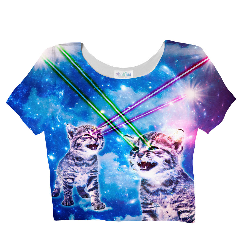 Laser Cat Crop Top - Shelfies | All-Over-Print Everywhere - Designed to Make You Smile
