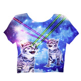Crop Tops - Laser Cat Crop Top