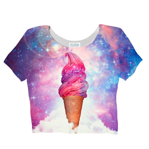 Majestic Ice Cream Crop Top-Shelfies-| All-Over-Print Everywhere - Designed to Make You Smile