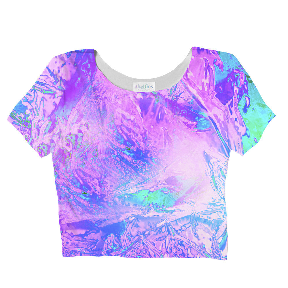 Crop Tops - Neon Glass Crop Top