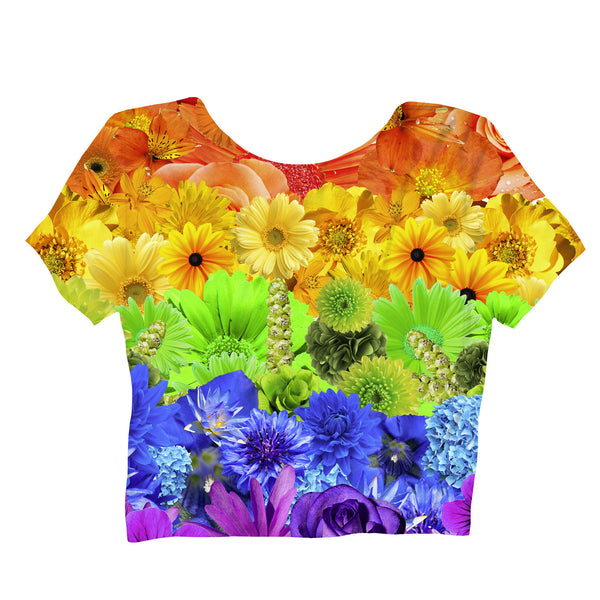 Pride Flowers Crop Top-Shelfies-| All-Over-Print Everywhere - Designed to Make You Smile