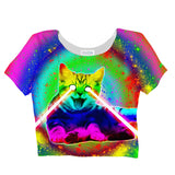 Psycho Kitty Crop Top - Shelfies | All-Over-Print Everywhere - Designed to Make You Smile