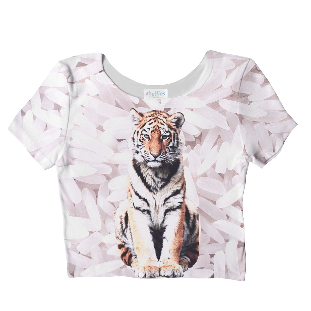 Rice Tiger Crop Top-Shelfies-S-| All-Over-Print Everywhere - Designed to Make You Smile