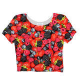 Summer Berries Invasion Crop Top-Shelfies-| All-Over-Print Everywhere - Designed to Make You Smile