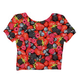 Summer Berries Invasion Crop Top - Shelfies | All-Over-Print Everywhere - Designed to Make You Smile