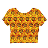 Sunflower Crop Top-Shelfies-| All-Over-Print Everywhere - Designed to Make You Smile