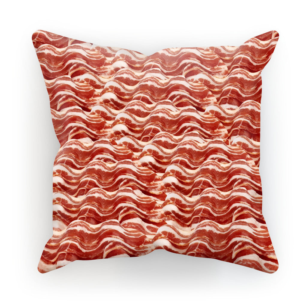 "Bacon Invasion Cushion-kite.ly-18""x18""-