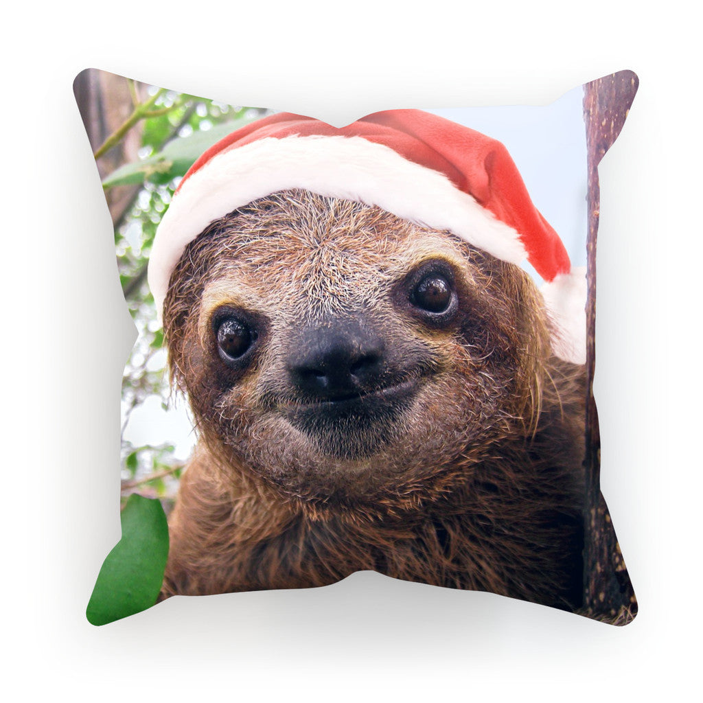"Christmas Sloth Cushion-kite.ly-18""x18""-