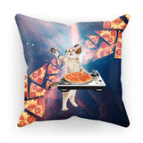 "DJ Pizza Cat Cushion-kite.ly-18""x18""-