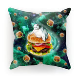 "Hamburger Cat Cushion-kite.ly-18""x18""-