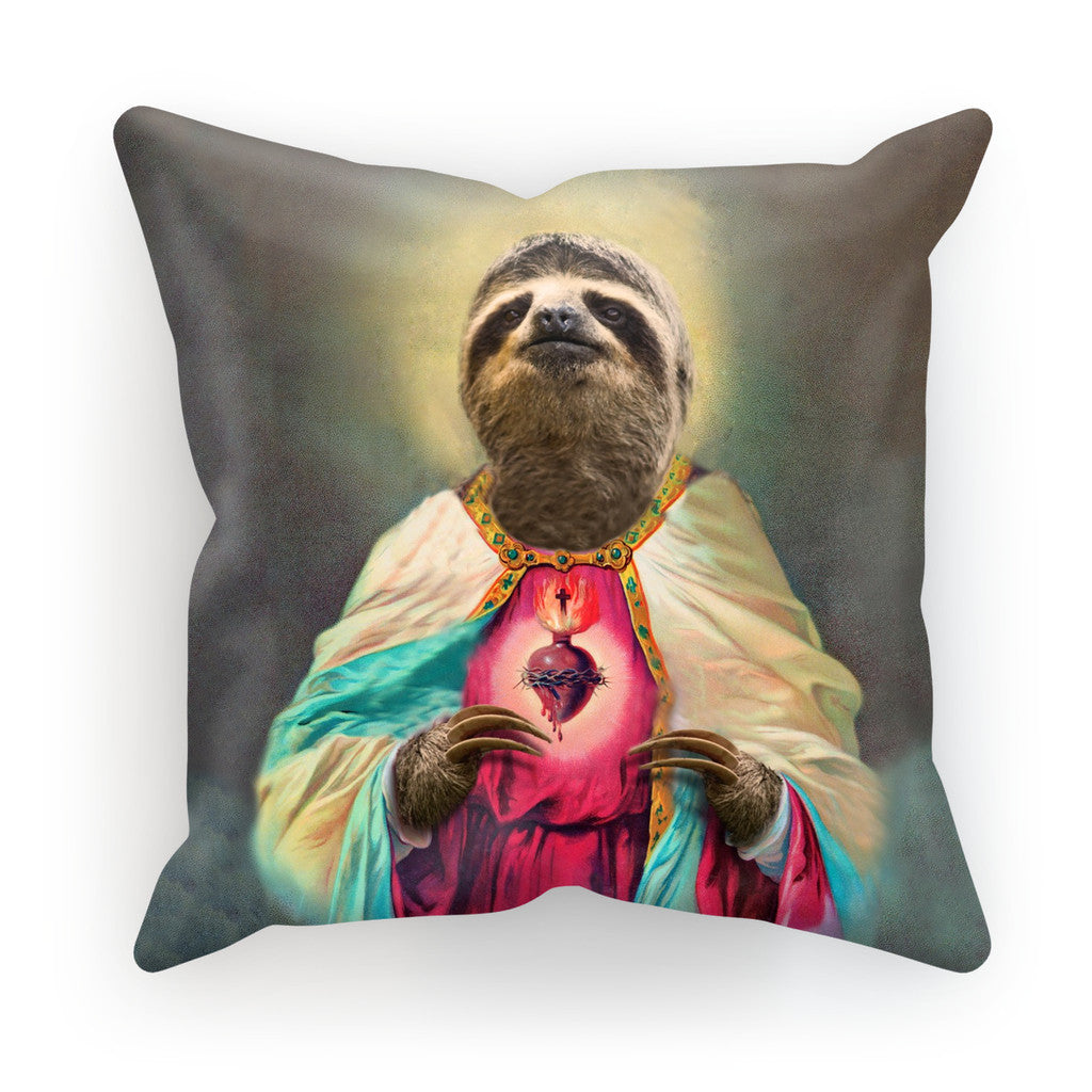 "Sloth Jesus Cushion-kite.ly-18""x18""-