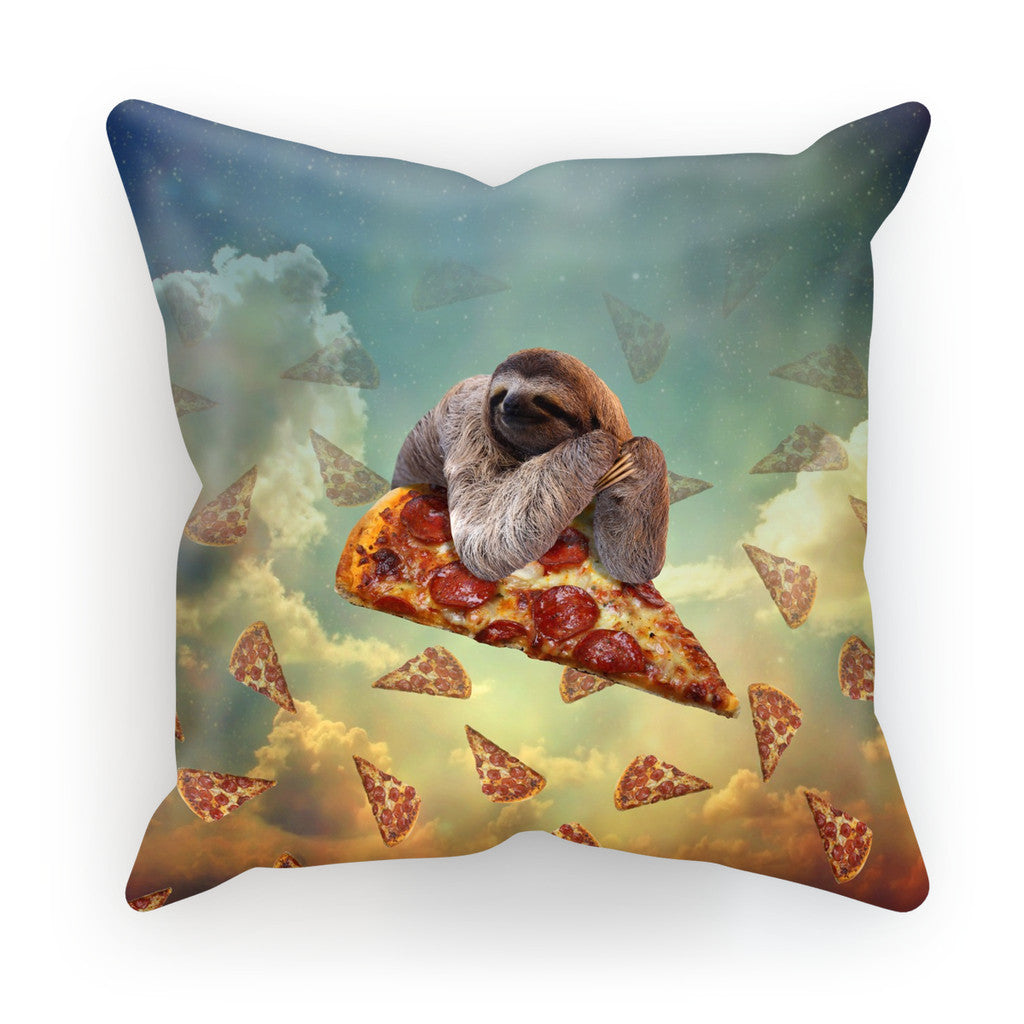 "Sloth Pizza Cushion-kite.ly-18""x18""-