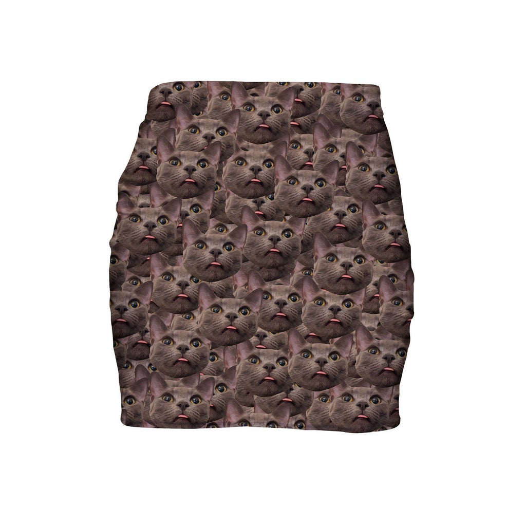 Animal Face Custom Mini Skirt-Shelfies-| All-Over-Print Everywhere - Designed to Make You Smile
