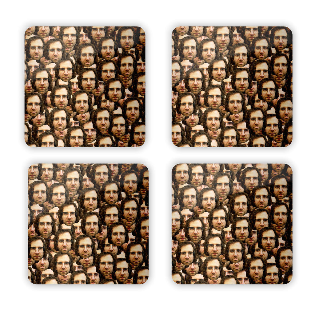 Your Face Custom Coaster Set-Shelfies-Set of 4-| All-Over-Print Everywhere - Designed to Make You Smile